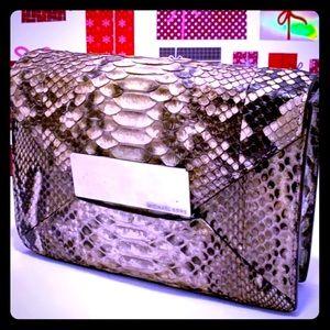 VTG RARE Michael Kors Snake Leather Clutch